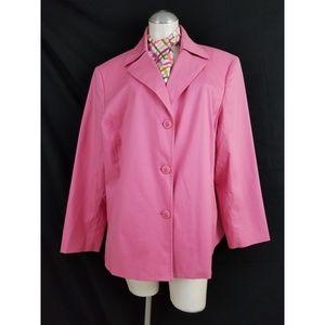 A Line Size 20W Pink Jacket